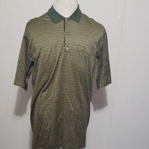 Vintage Bobby Jones Golf Polo Green Front Pocket